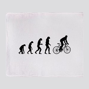 Evolution cycling Throw Blanket
