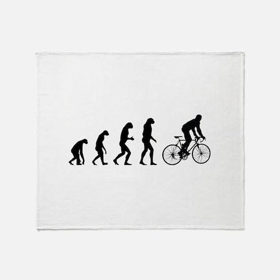Evolution cycling Throw Blanket
