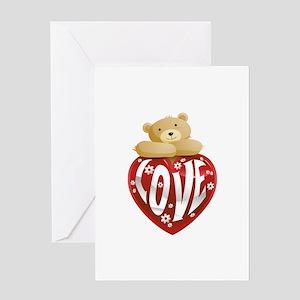 Teddy Bear Love Greeting Card