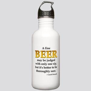 Czech Beer Proverb Stainless Water Bottle 1.0L