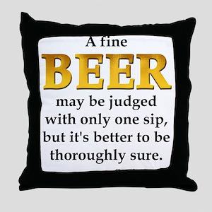 Czech Beer Proverb Throw Pillow