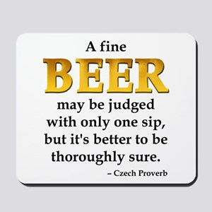 Czech Beer Proverb Mousepad