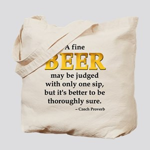 Czech Beer Proverb Tote Bag