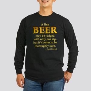 Czech Beer Proverb Long Sleeve Dark T-Shirt