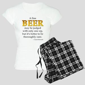 Czech Beer Proverb Women's Light Pajamas