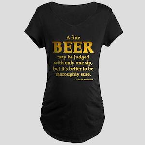 Czech Beer Proverb Maternity Dark T-Shirt