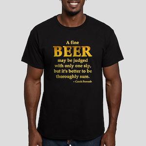 Czech Beer Proverb Men's Fitted T-Shirt (dark)