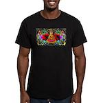 Buddha Swirl - Men's Fitted T-Shirt (dark)