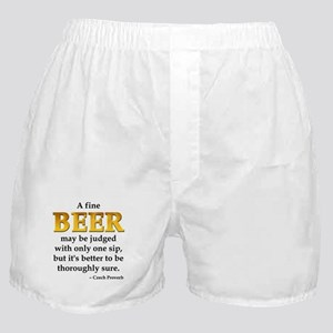 Czech Beer Proverb Boxer Shorts