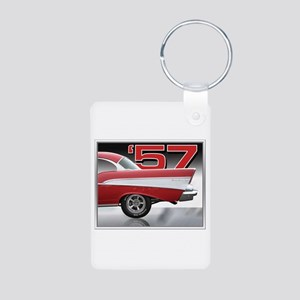 '57 Chevy Bel Air Aluminum Photo Keychain