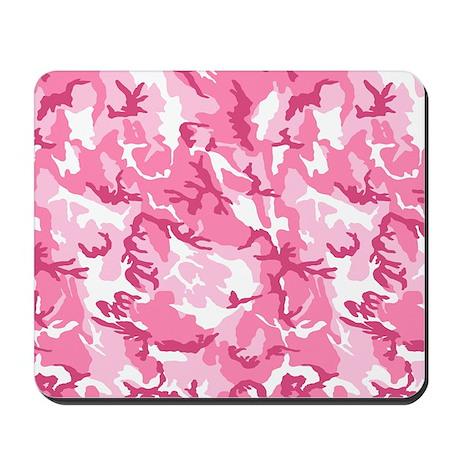 Pink Camouflage Pattern Mousepad