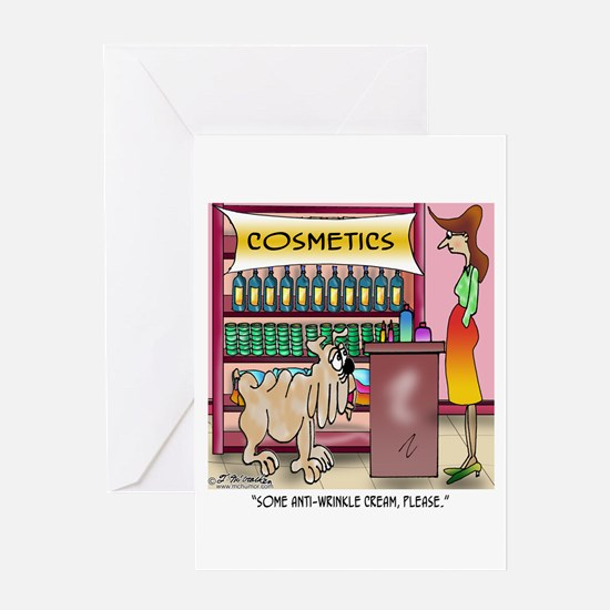 Wrinkly Dog Oil Greeting Card