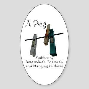 Pegs Sticker (Oval)