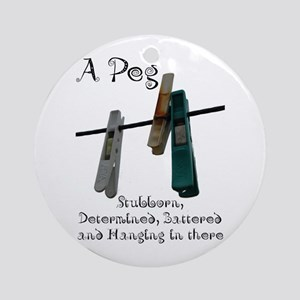 Pegs Ornament (Round)