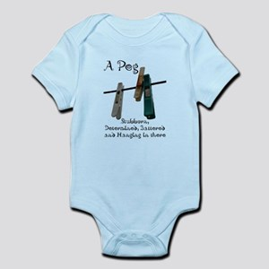 Pegs Infant Bodysuit