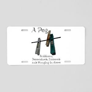 Pegs Aluminum License Plate