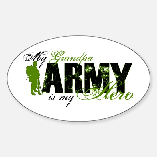 Grandpa Hero3 - ARMY Sticker (Oval)