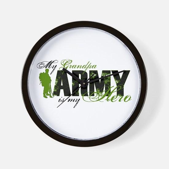 Grandpa Hero3 - ARMY Wall Clock