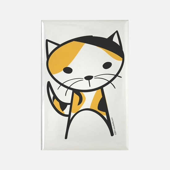 Calico Cat Rectangle Magnet