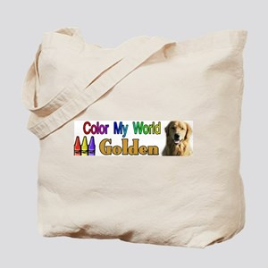 Color My World Golden Tote Bag