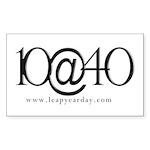 10@40 Sticker (Rectangle 50 pk)