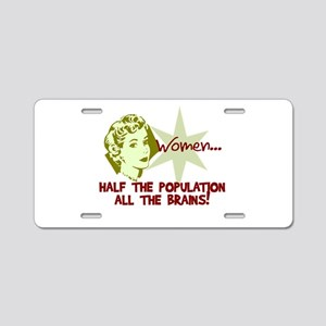 Smart Women Aluminum License Plate