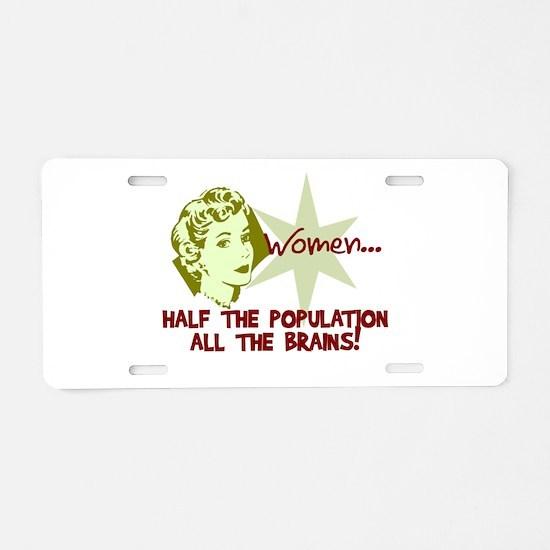 Smart Women Aluminum License Plate