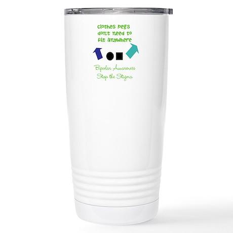 Pegs Stainless Steel Travel Mug