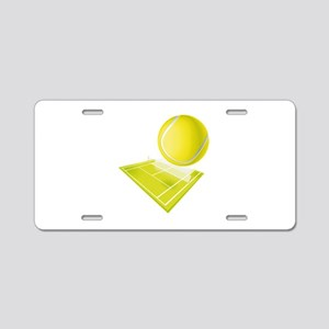 Tennis Aluminum License Plate