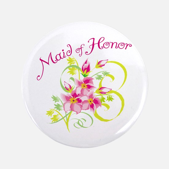 """Maid of Honor 3.5"""" Button"""