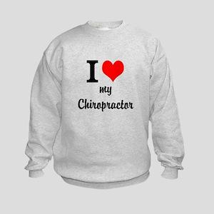 I Love My Chiropractor Kids Sweatshirt
