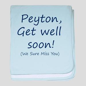Peyton,get well soon! baby blanket