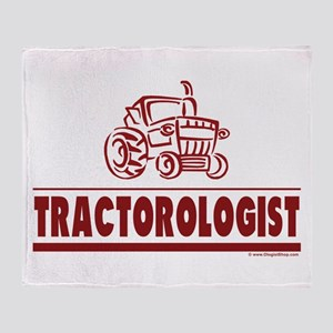 Humorous Tractor Throw Blanket
