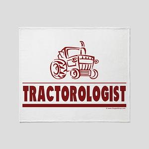 Humorous Tractor Throw Blanket