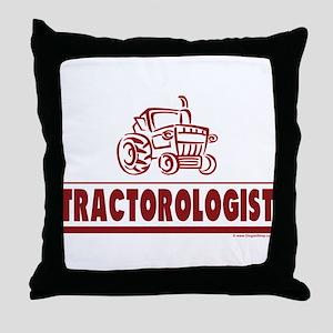 Humorous Tractor Throw Pillow