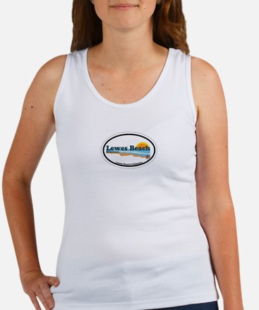Lewes Beach DE - Oval Design Women's Tank Top
