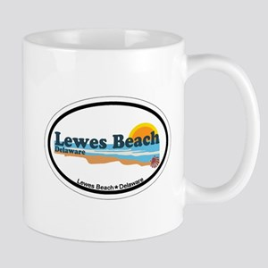 Lewes Beach DE - Oval Design Mug