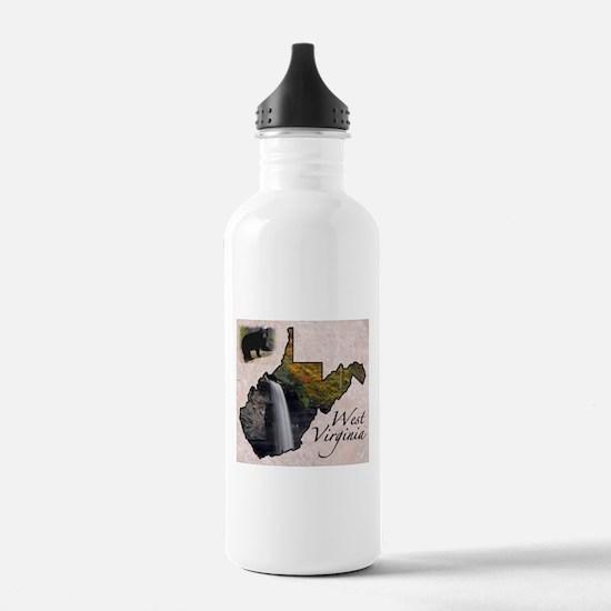 Cute West virginia Water Bottle