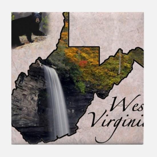 Cute West virginia Tile Coaster