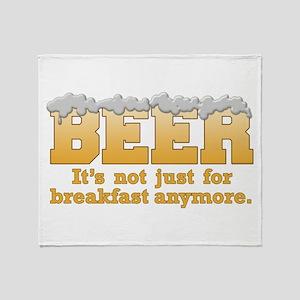 Beer/Brekkie Throw Blanket