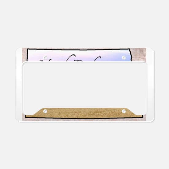Cute North dakota state License Plate Holder