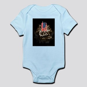 Twin Towers In His Hands Infant Bodysuit