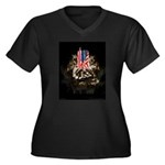 Twin Towers In His Hands Women's Plus Size V-Neck