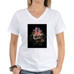 Twin Towers In His Hands Women's V-Neck T-Shirt