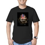 Twin Towers In His Hands Men's Fitted T-Shirt (dar