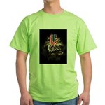 Twin Towers In His Hands Green T-Shirt