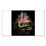 Twin Towers In His Hands Sticker (Rectangle 50 pk)