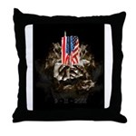 Twin Towers In His Hands Throw Pillow