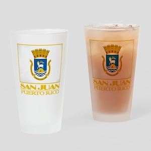 San Juan Flag Drinking Glass