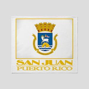 San Juan Flag Throw Blanket